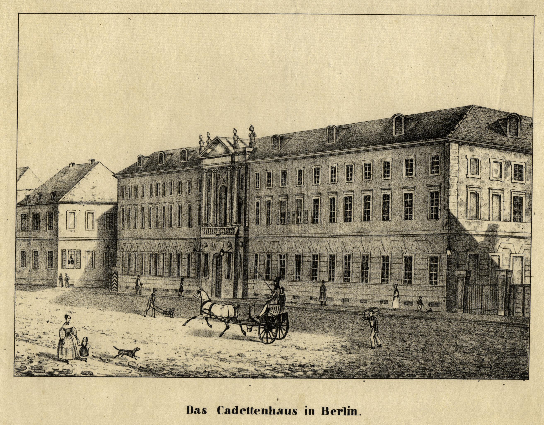 """Kadettenhaus, """"Das Cadettenhaus in Berlin"""".: Berlin - Militärbauten:"""
