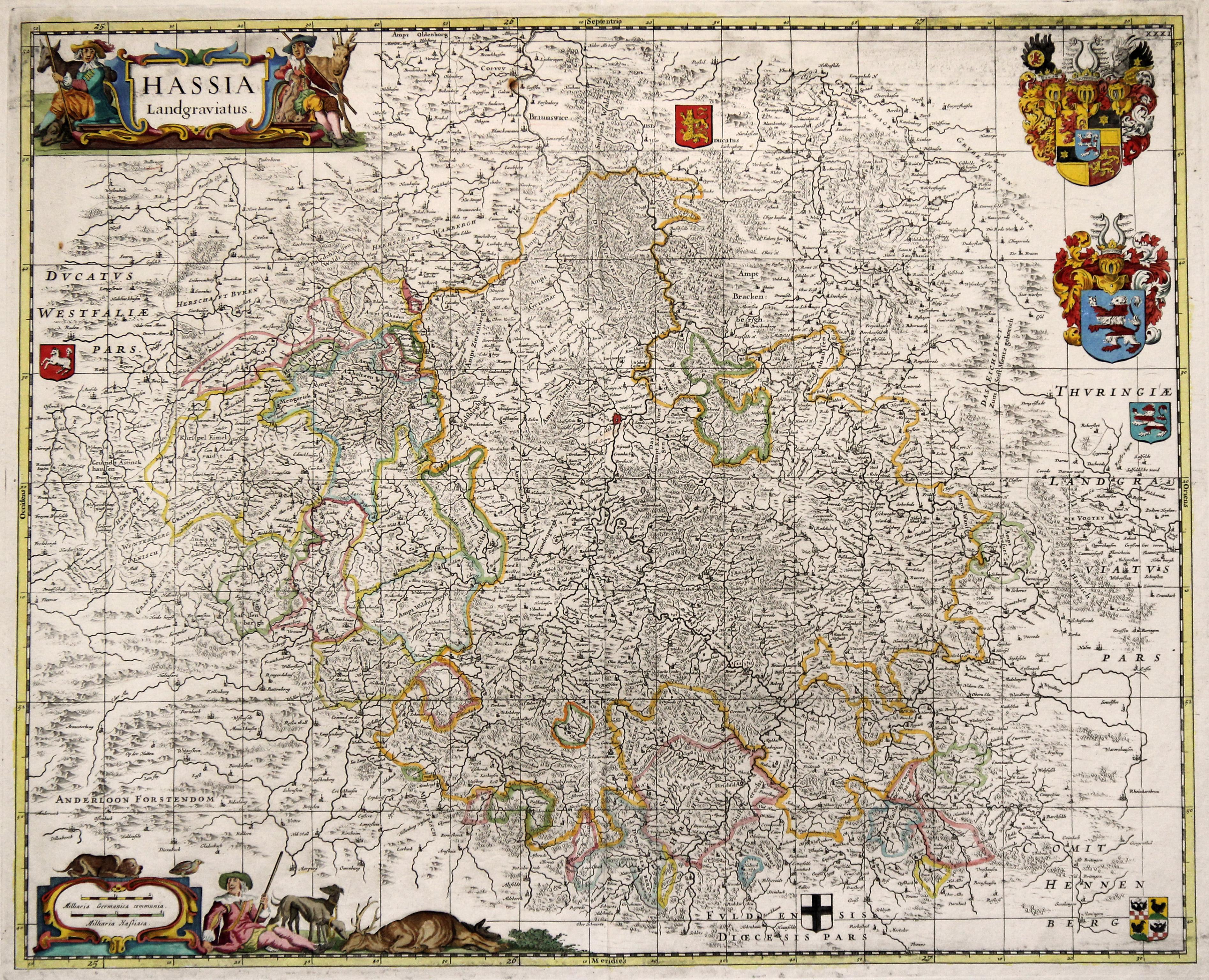Kst.- Karte, b. J. Janssonius - Waesberge,: Nordhessen:
