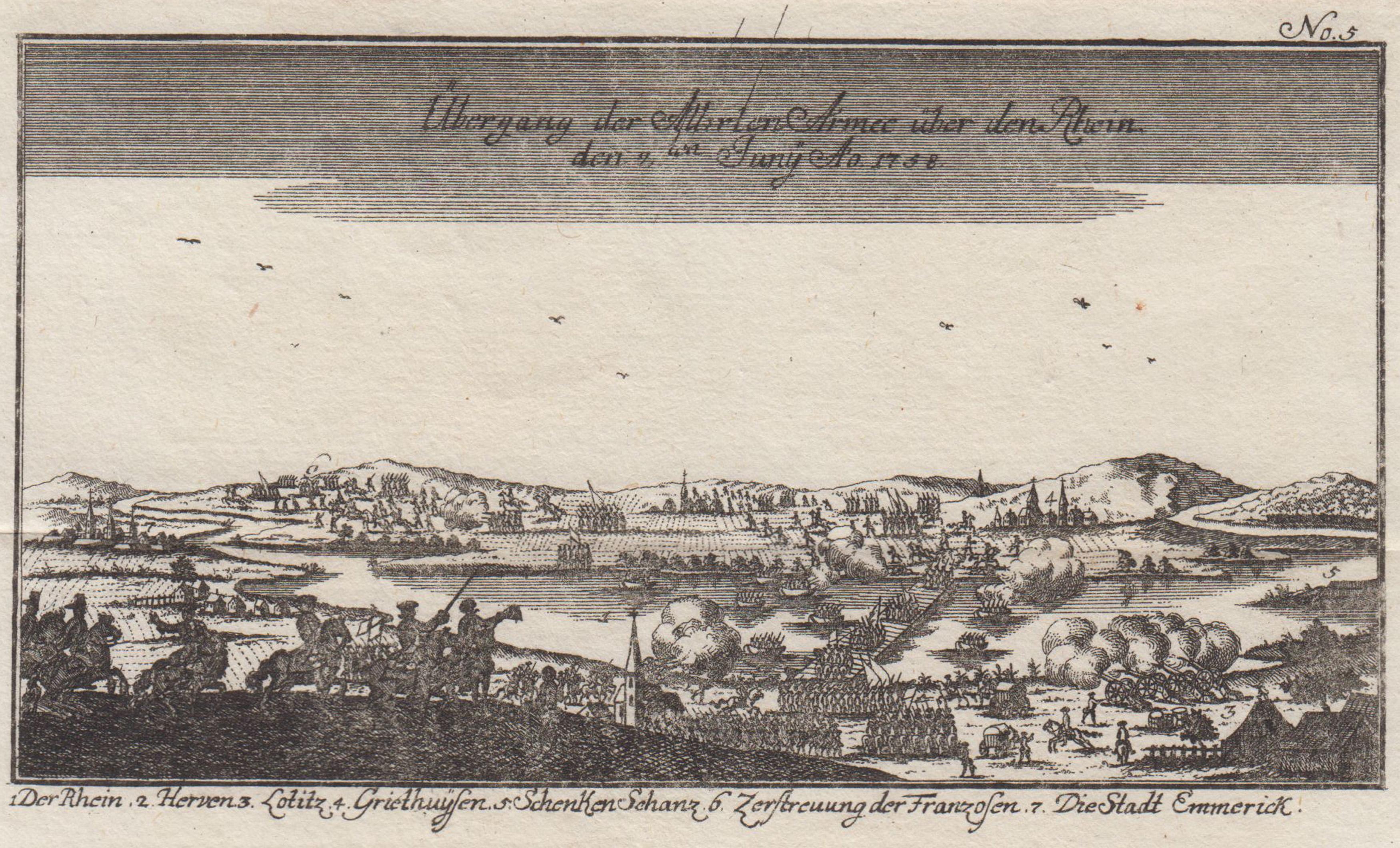 Übergang der Alirten Armee über den Rhein: Kleve: Schenkenschanz: