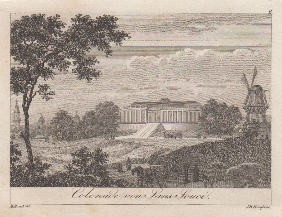 """Hofseite ( Nordseite ), """"Colonade von Sans: Potsdam - Schloss"""