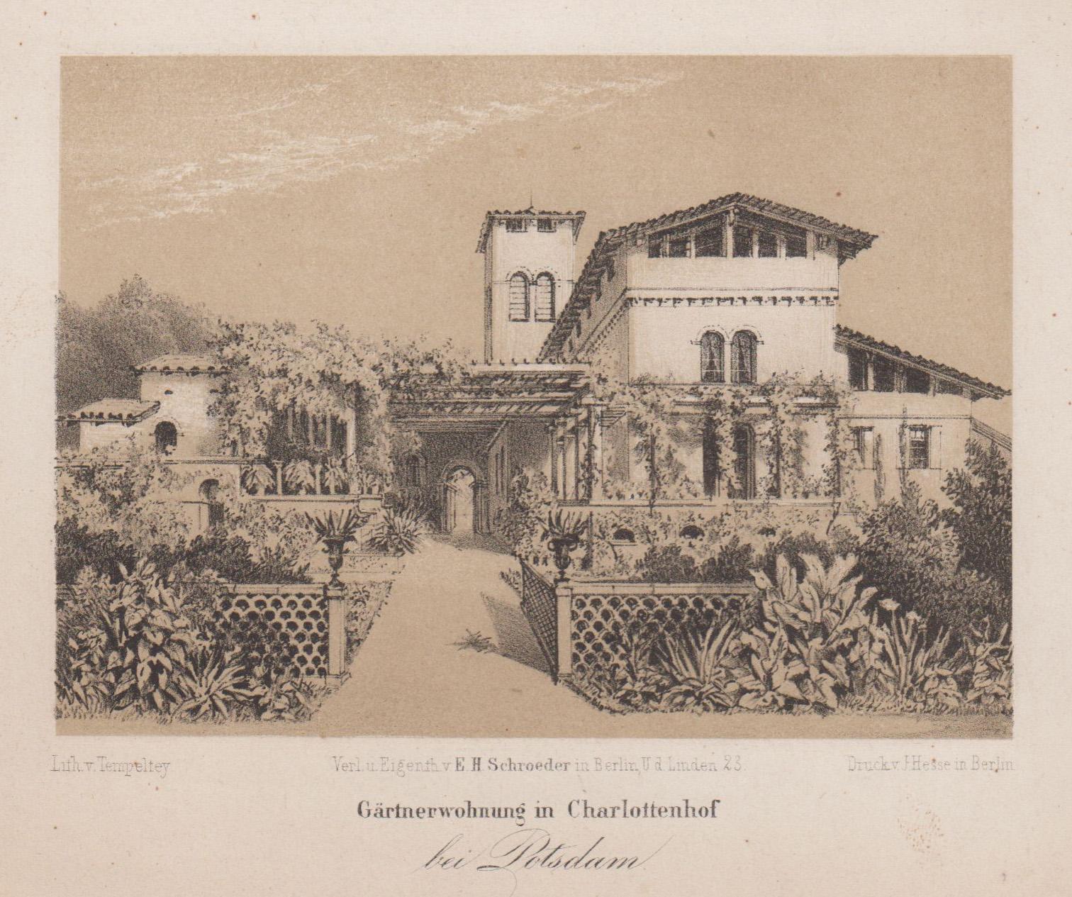 """Römische Bäder im Park Charlottenhof, """"Gärtnerwohnung in: Potsdam - Park"""