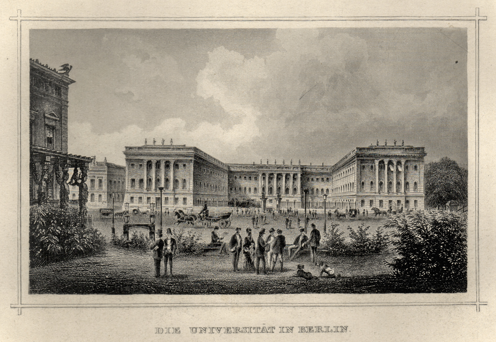 Die Universität in Berlin.: Berlin - Universität: