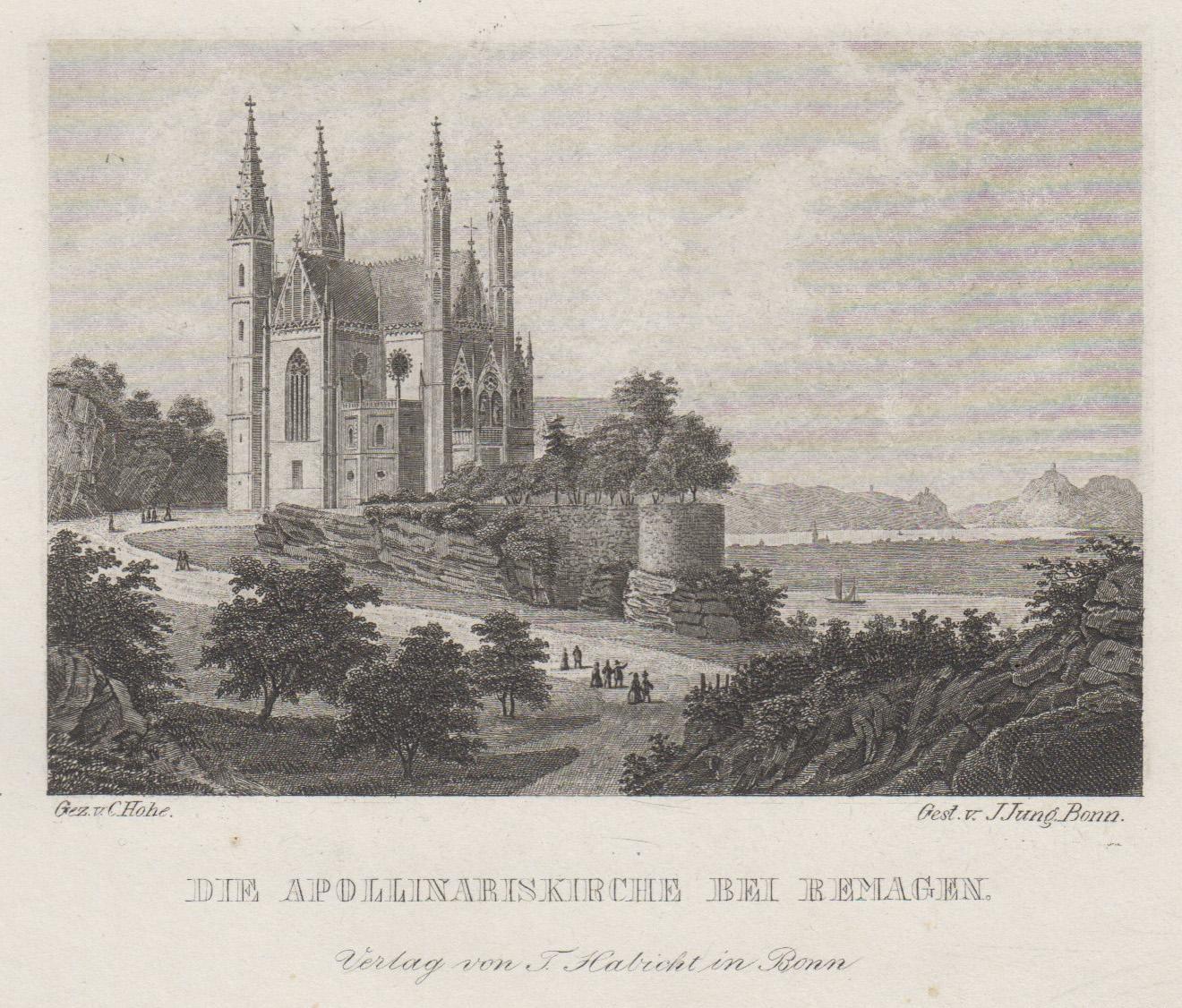 TA., Apollinariskirche m. Blick z. Siebengeb.: Remagen: