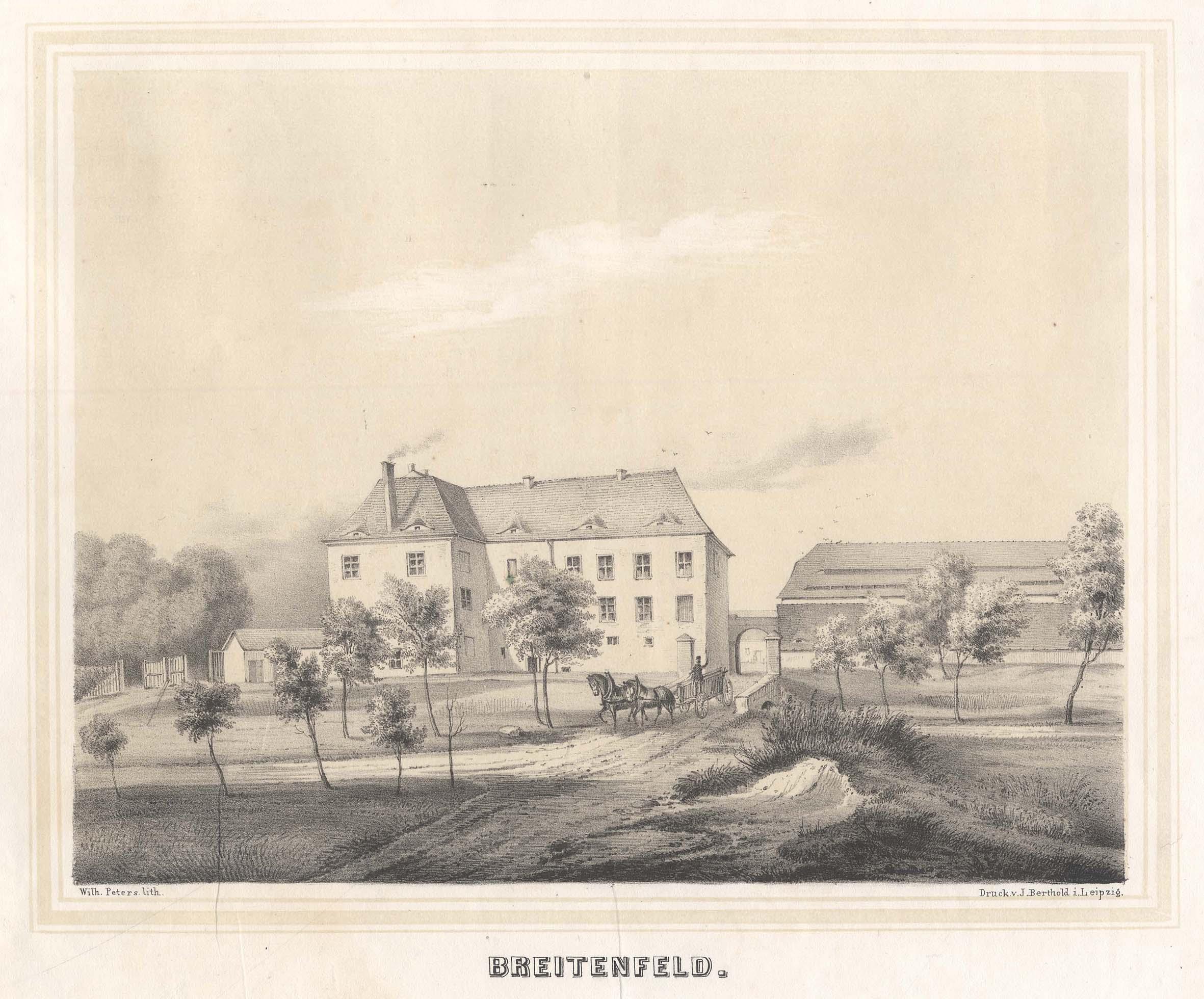 """Ansicht des Rittergutes, """"Breitenfeld"""".: Lindenthal: Breitenfeld:"""