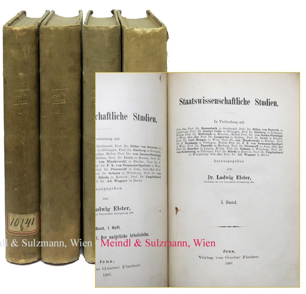 Staatswissenschaftliche Studien. 25 Hefte in 4 Bänden.: Elster, Ludwig.