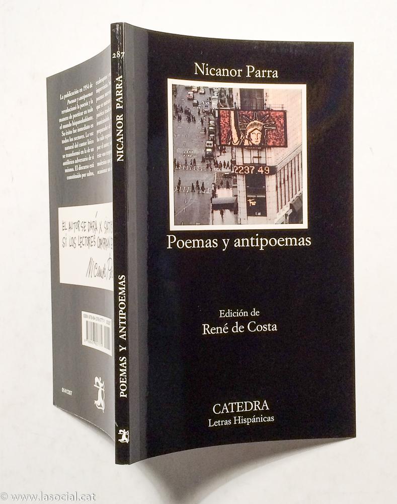 Poemas Y Antipoemas De Nicanor Parra Muy Bien Tapa Blanda 2017 La Social Galería Y Libros