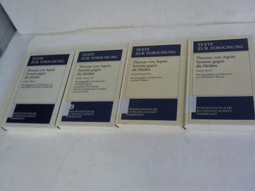 4 Bände: Aquin, Thomas von