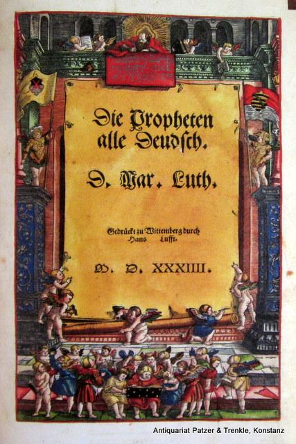 das ist die gantze Heilige Schrifft Deudsch.: Biblia