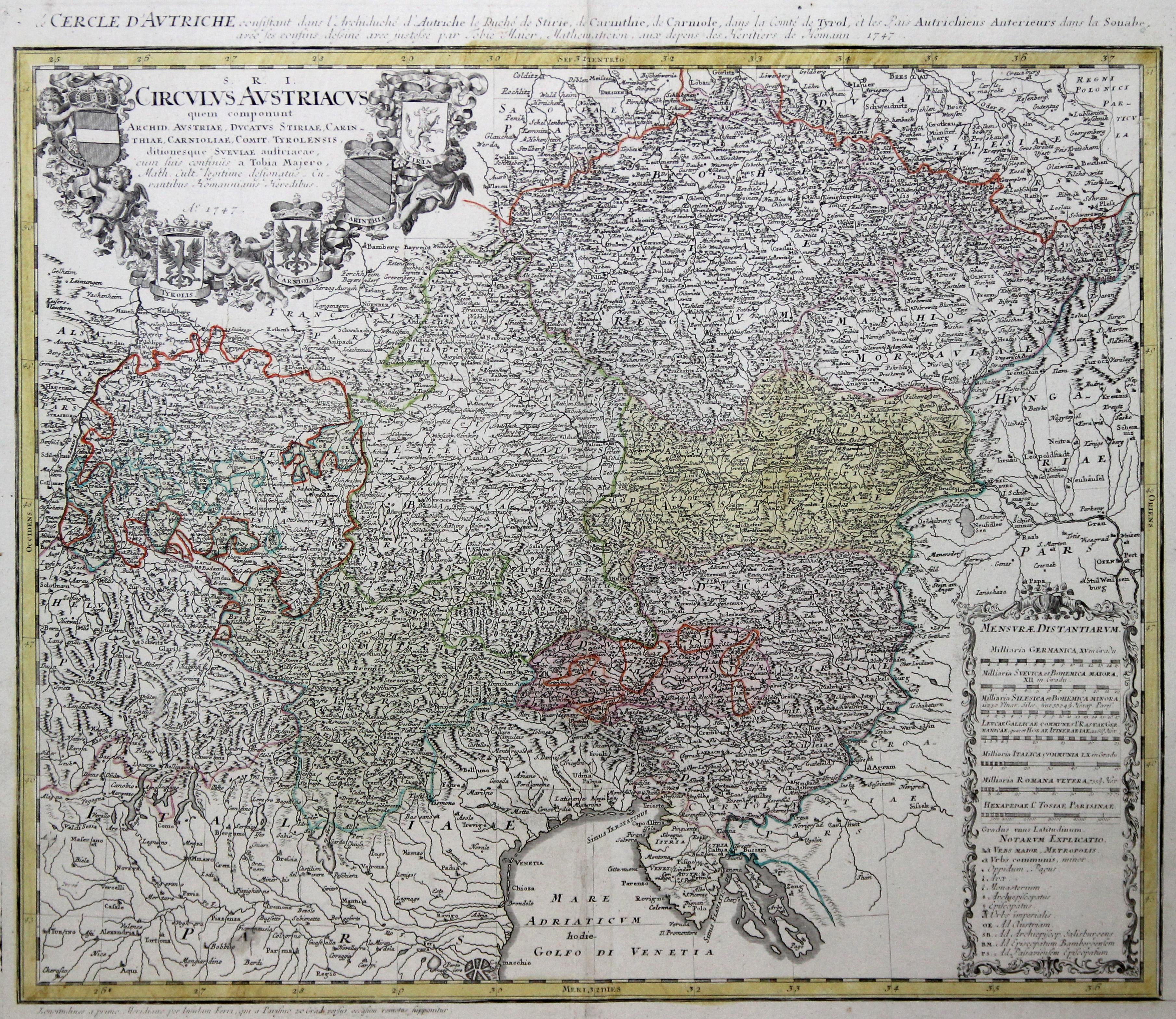 Kst.- Karte, n. Tobias Mayer b. Homann: Österreichischer Kreis: