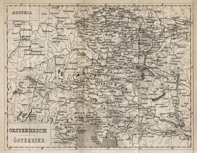 """Stst.- Karte, anonym b. Payne, """"Oesterreich Osterrike"""".: Österreichischer Kreis:"""