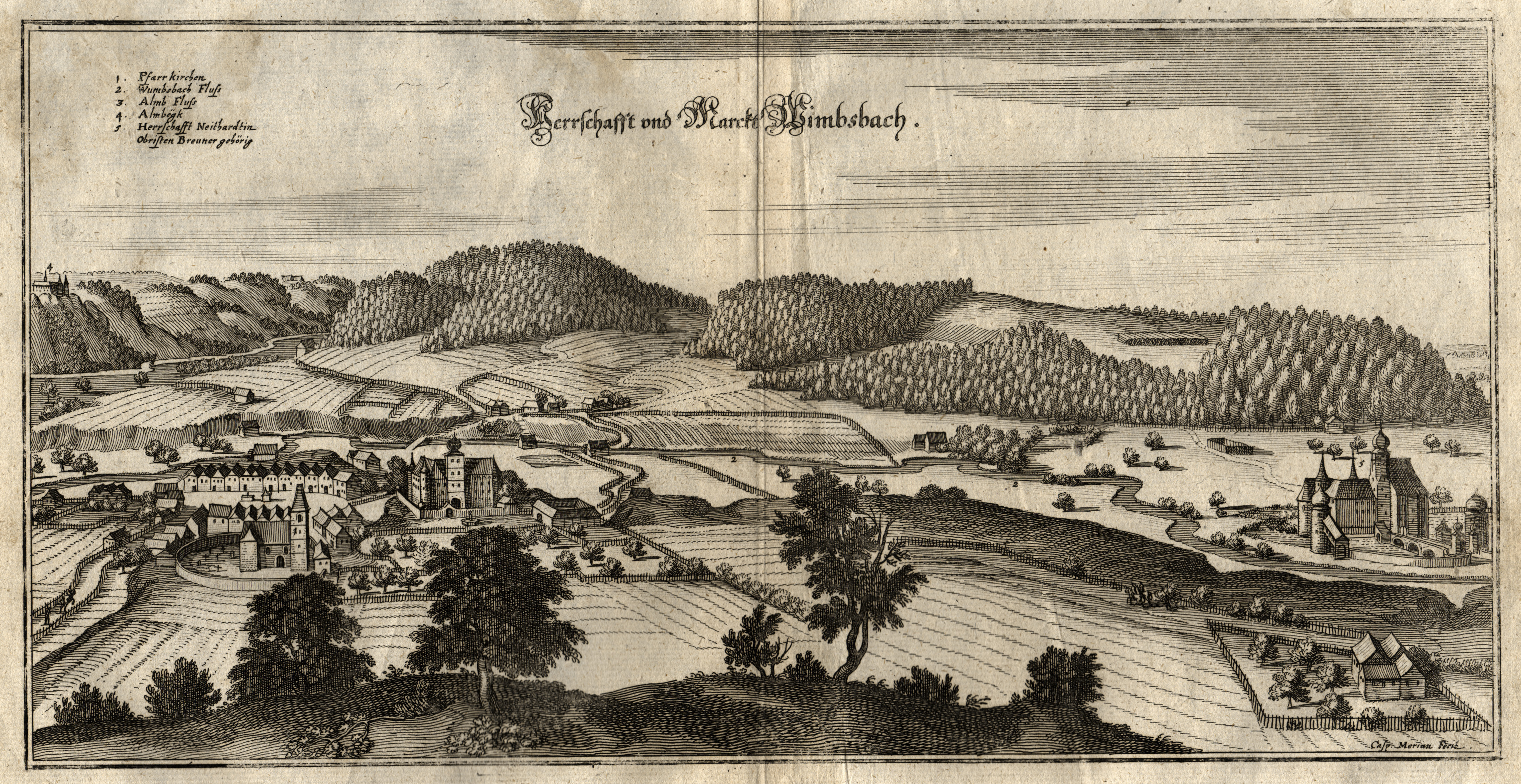 "Gesamtans., ""Herrschafft und Markt Wimbsbach"".: Bad Wimsbach -"