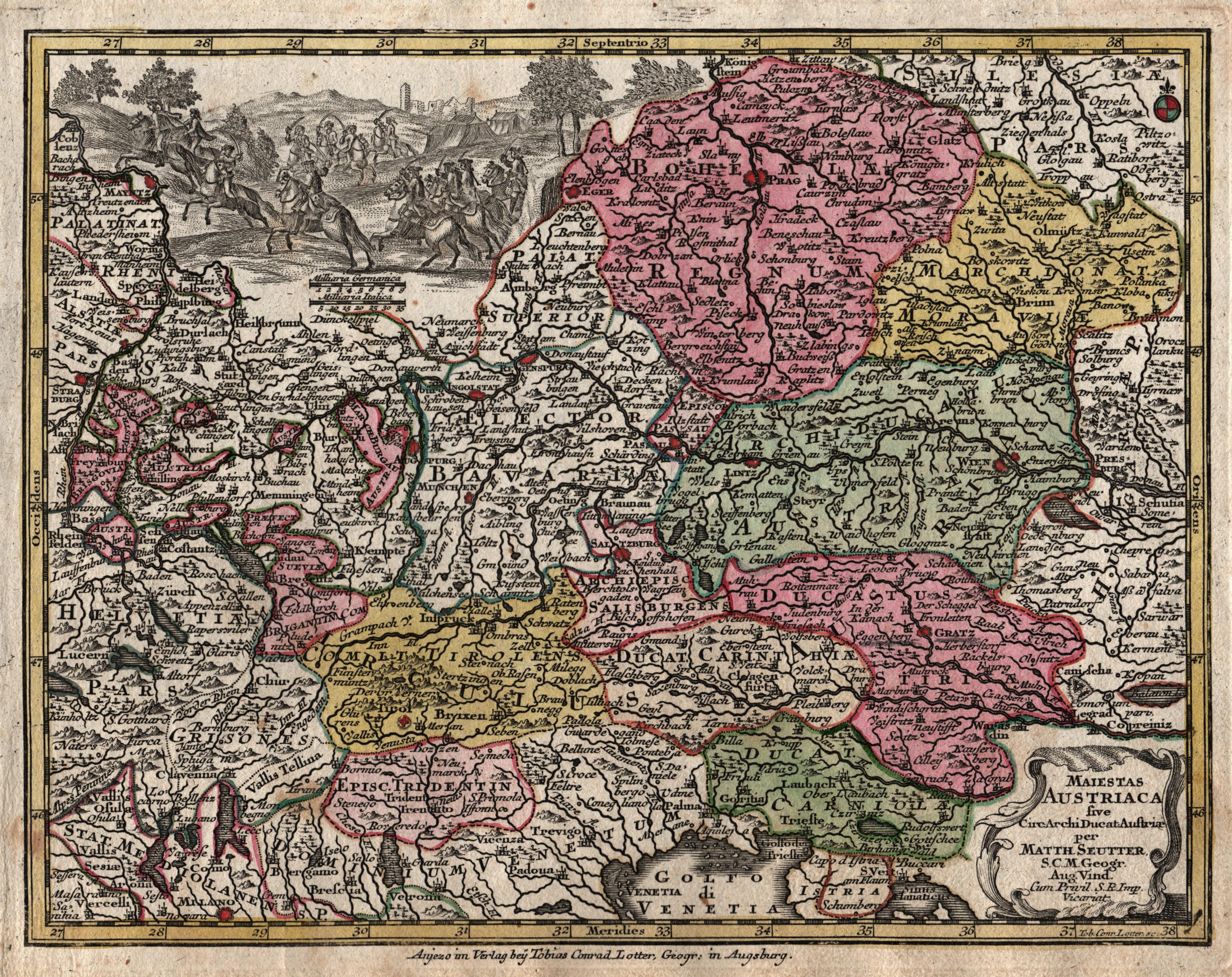 Kst.- Karte, n. Seutter v. und b.: Österreichischer Kreis: