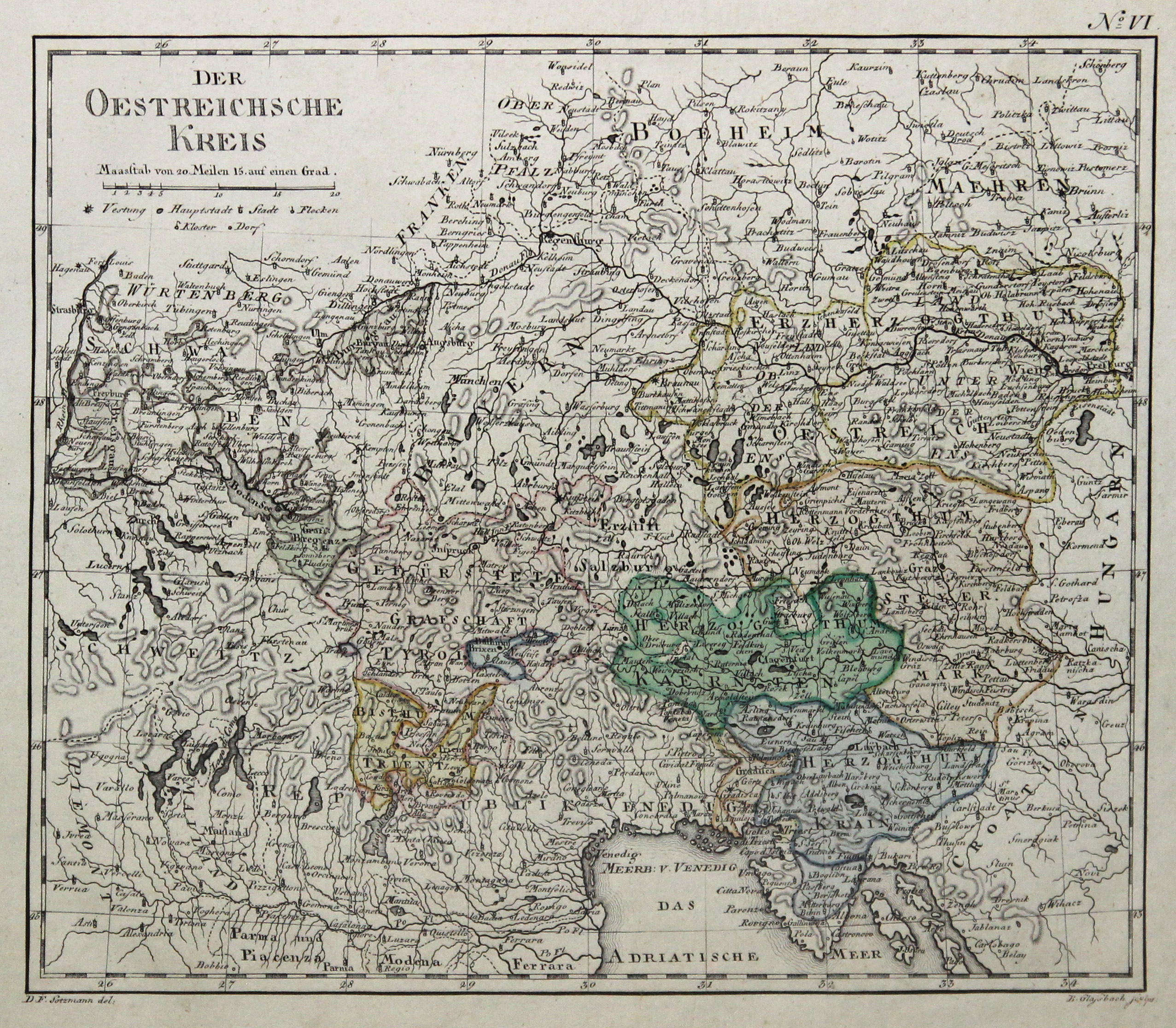 Kst.- Karte, v. B. Glasbach n. D.F.: Österreichischer Kreis: