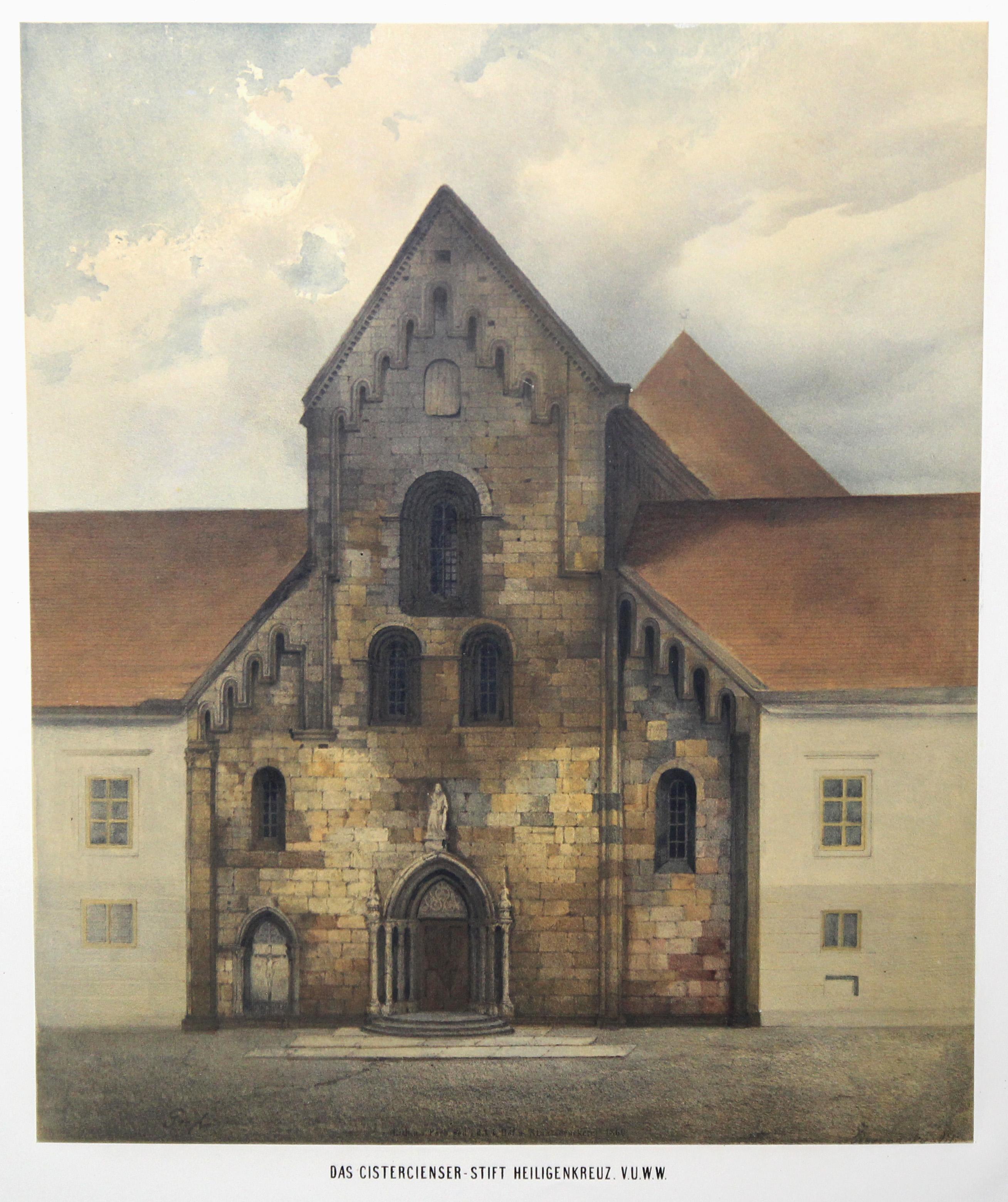 Ansicht der Stiftskirche.: Heiligenkreuz/Niederöster.:
