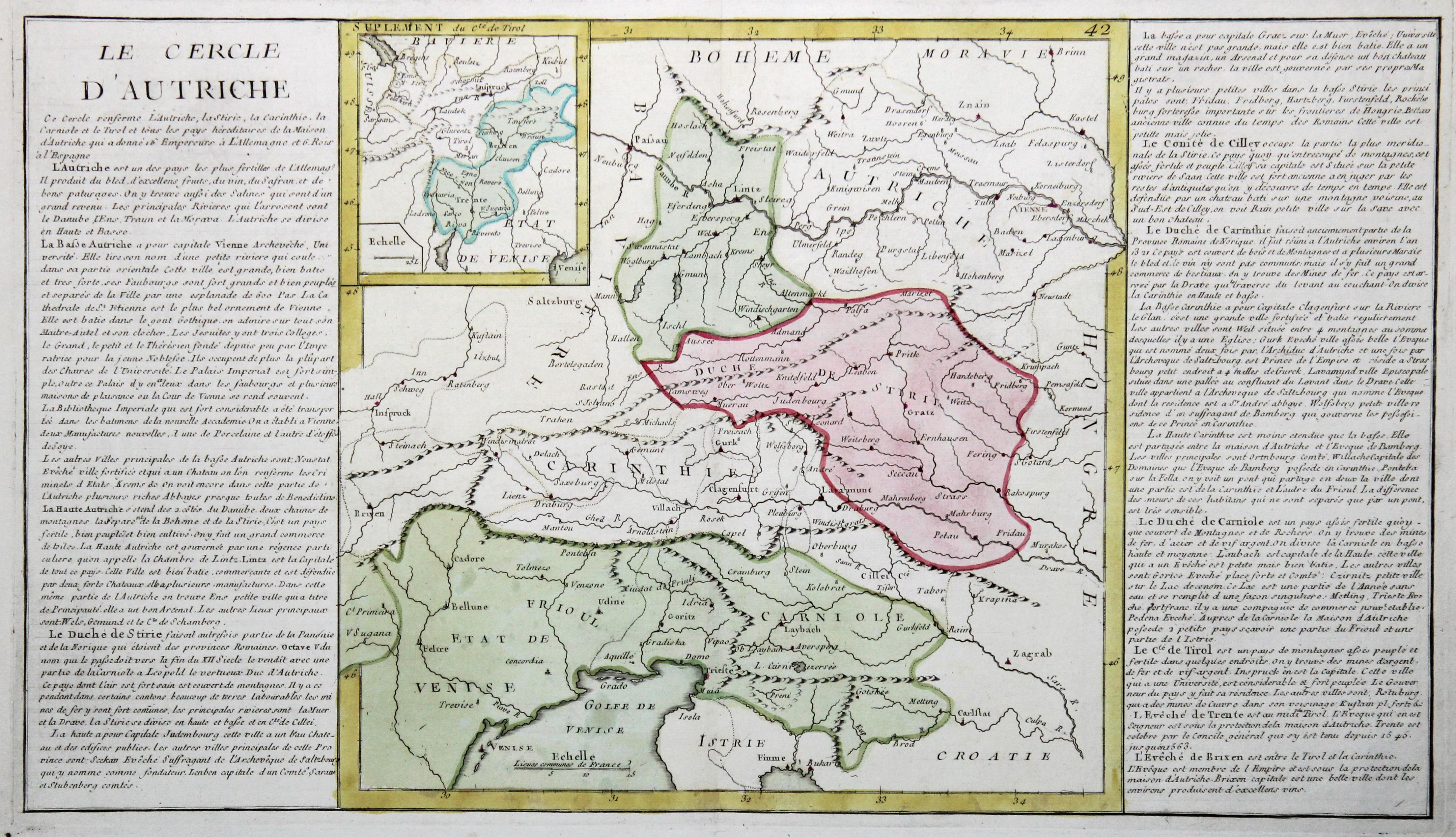 Kst.- Karte, n. J.B.L. Clouet b. Mondhare: Österreichischer Kreis: