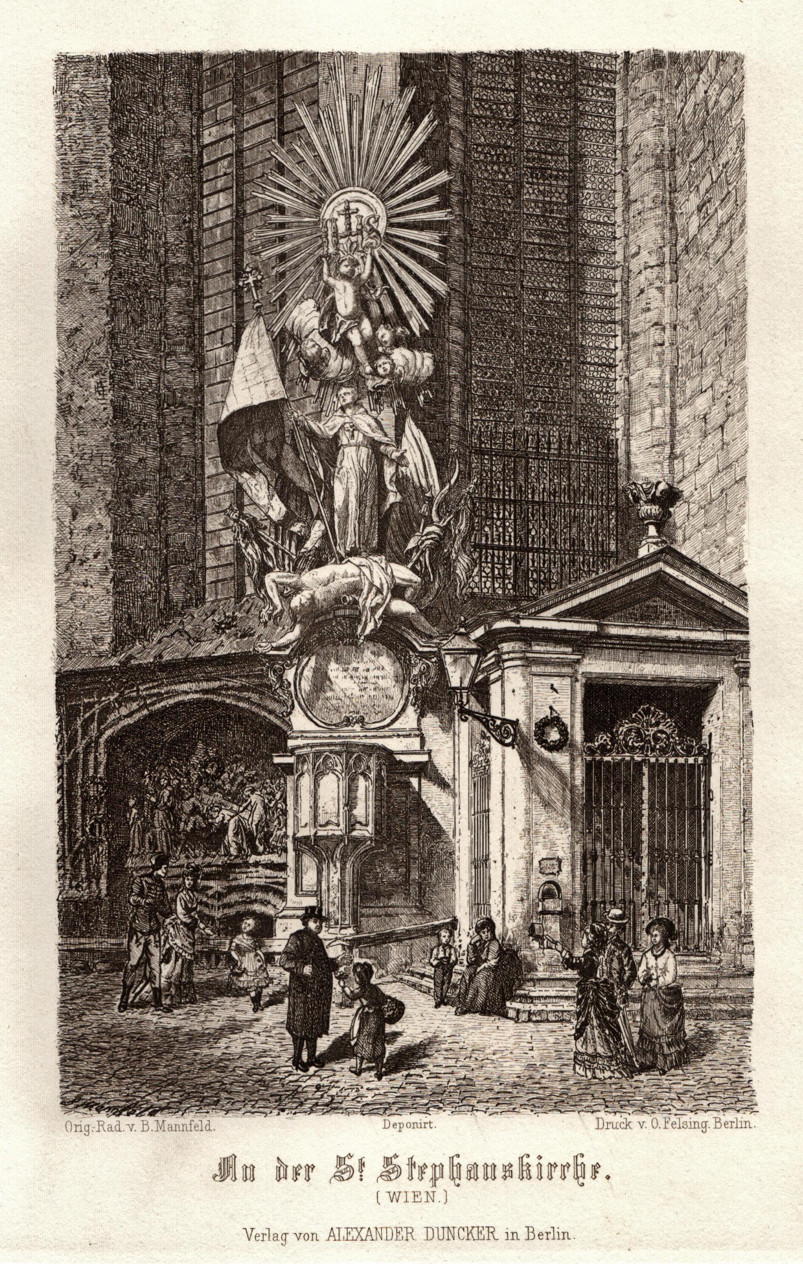 """TA., Stephansdom, Teilansicht des Südchors, """"An der: Wien ( Vienna"""