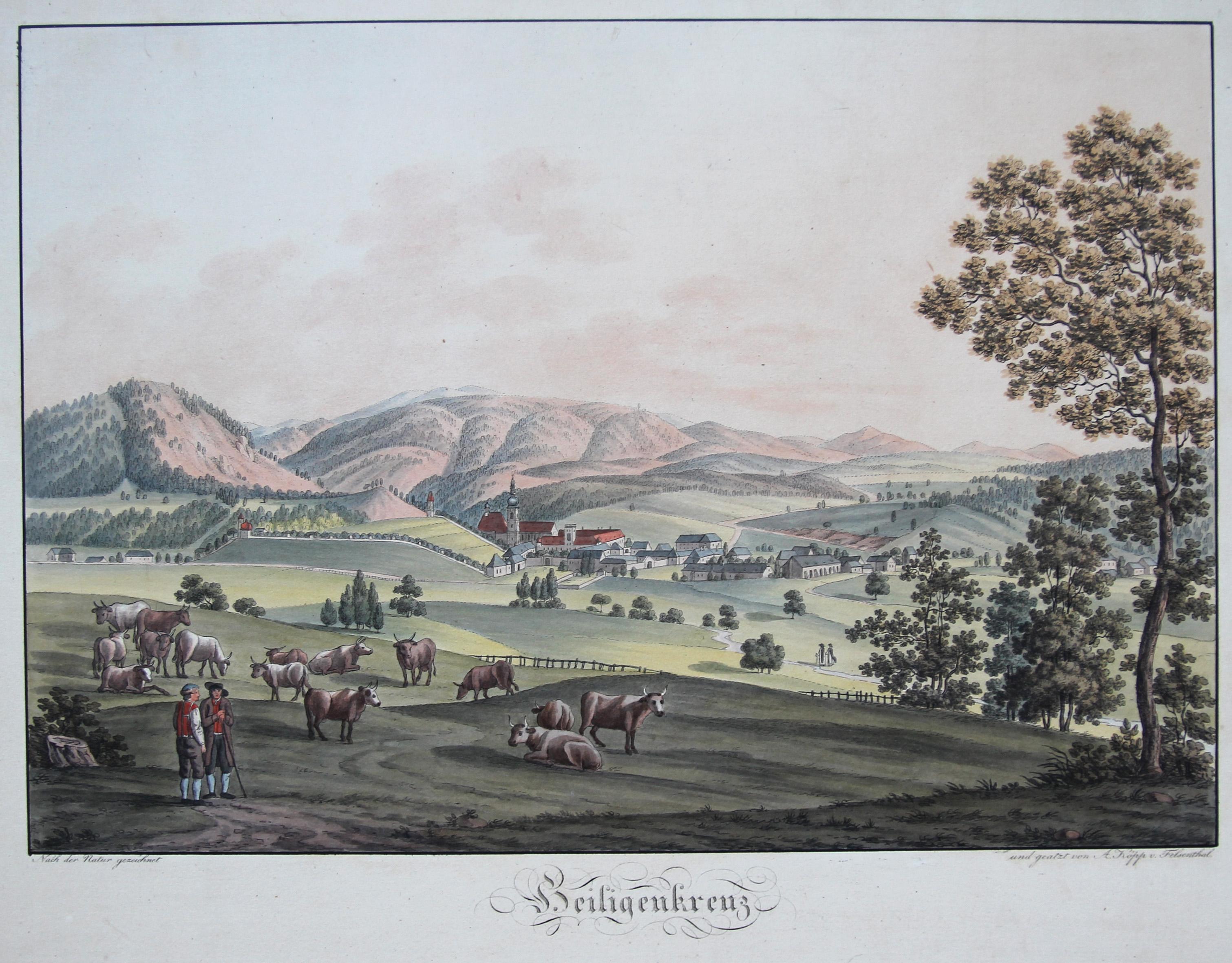 Ansicht des Klosters Heiligenkreuz.: Heiligenkreuz/Niederöster.: