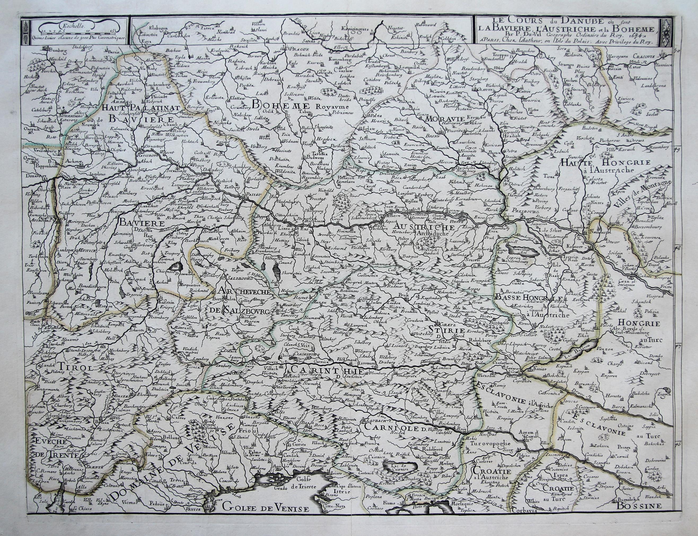 Kst.- Karte, v. u. b. Pierre Duval,: Österreichischer Kreis: