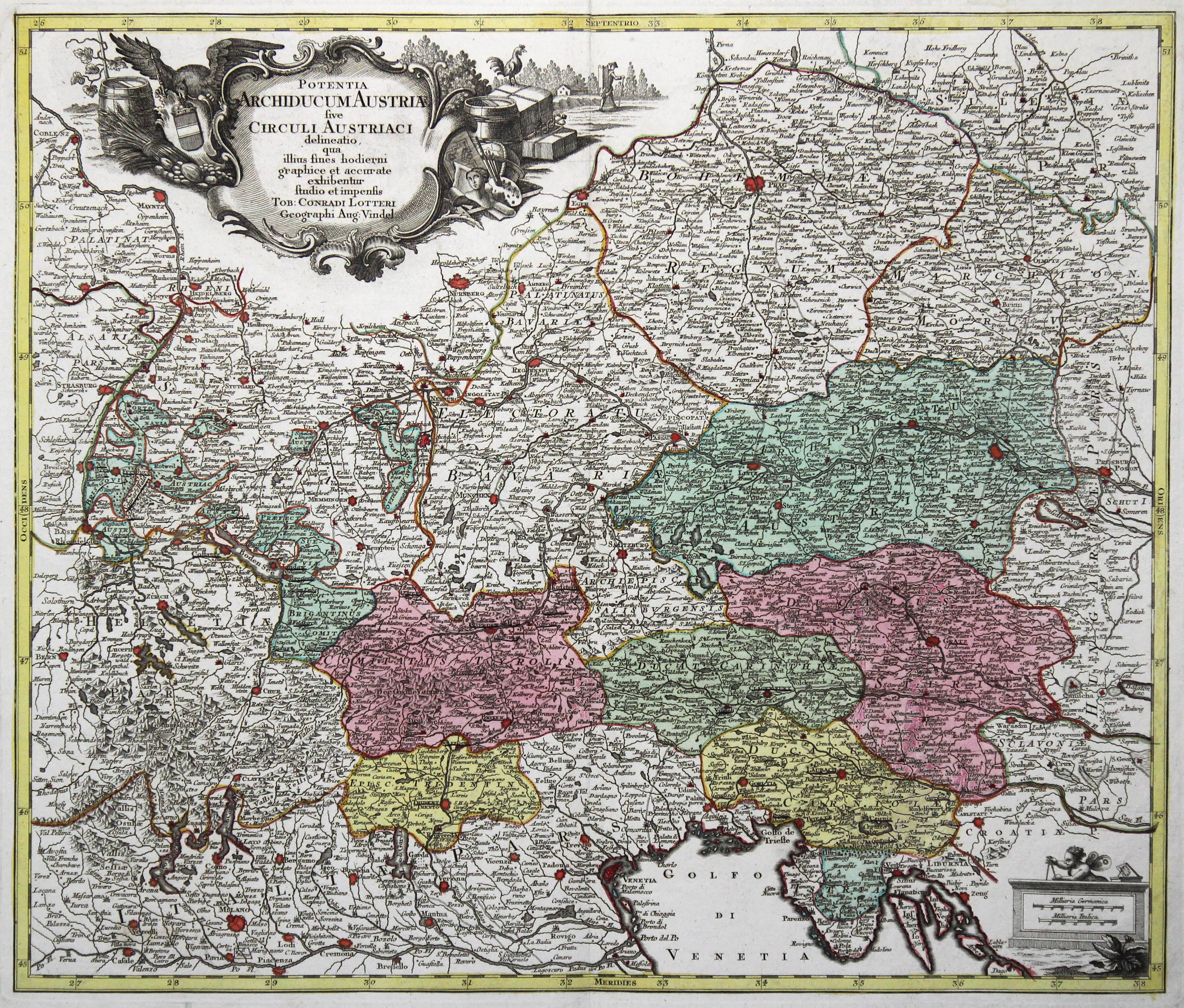 Kst.- Karte, v. und b. Tob. Conrad: Österreichischer Kreis:
