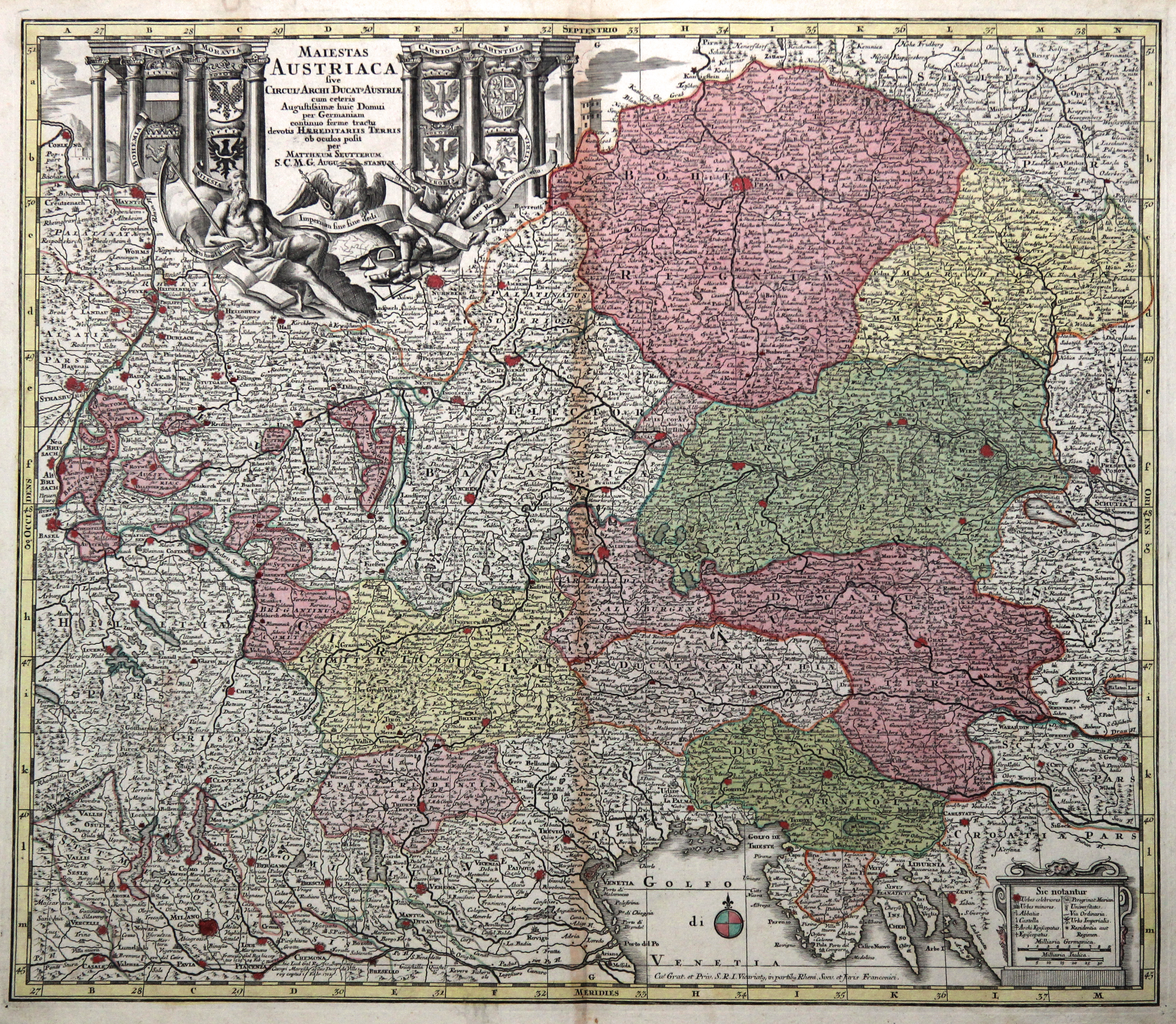 "Kst.- Karte, b. M. Seutter, ""Maiestas Austriaca: Österreichischer Kreis:"