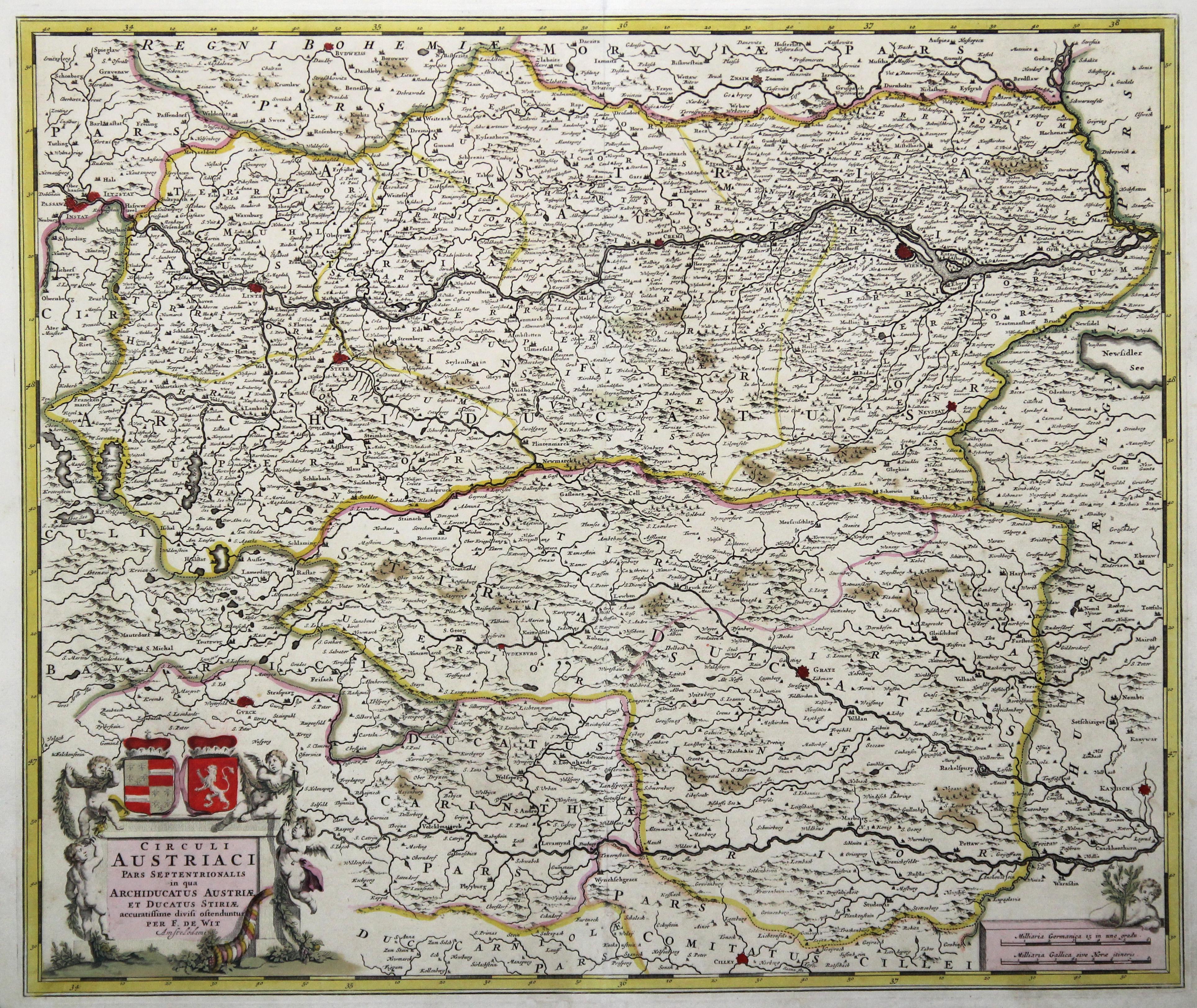 """Kst.- Karte, b. F. de Wit, """"Circuli: Österreichischer Kreis:"""