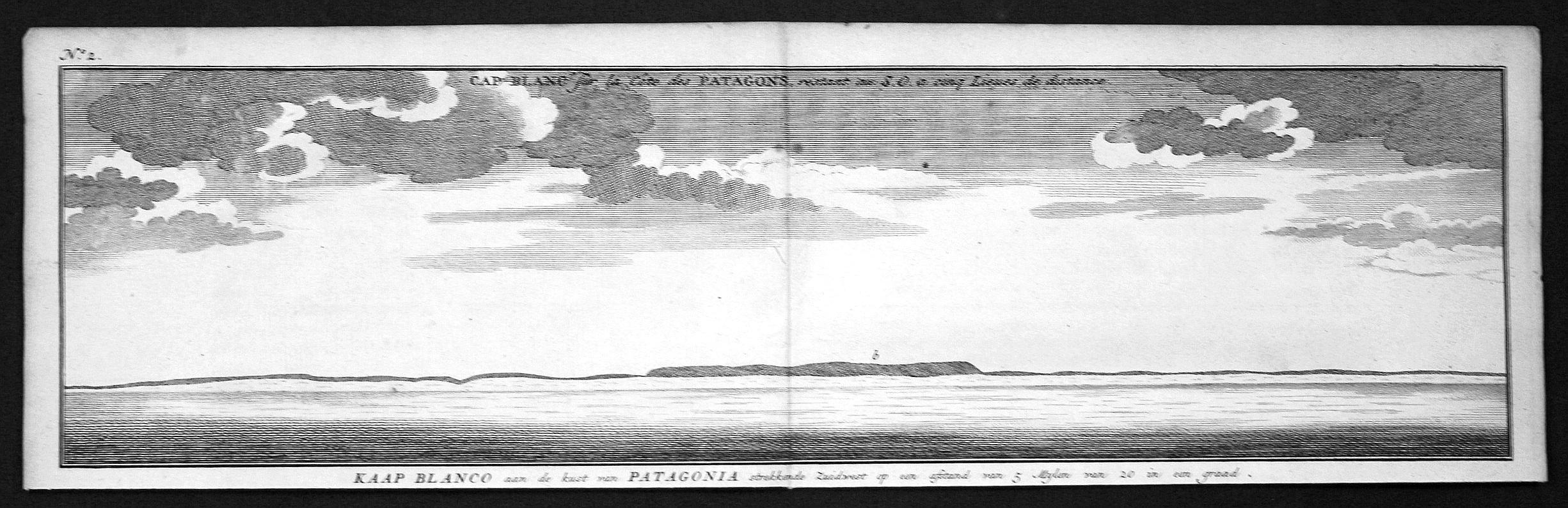 """Cap Blanc sur la Cote des Patagons"""": Anson, George:"""