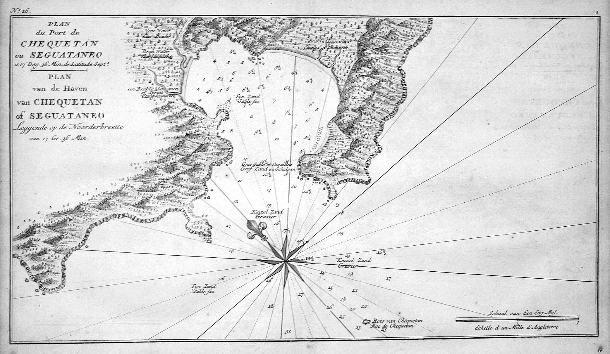 "Plan du Port de Chequetan ou Seguataneo"": Anson, George:"