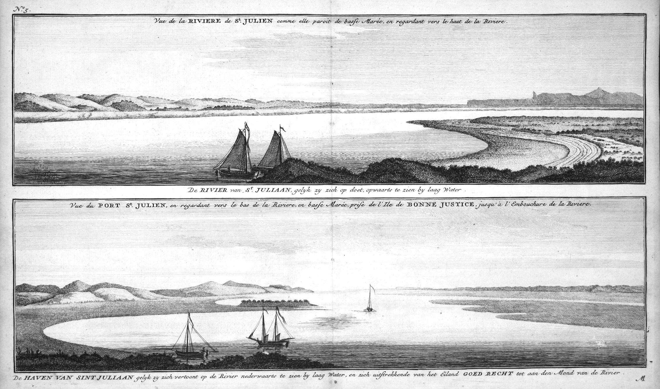 Vue de la Riviere de St. Julien: Anson, George: