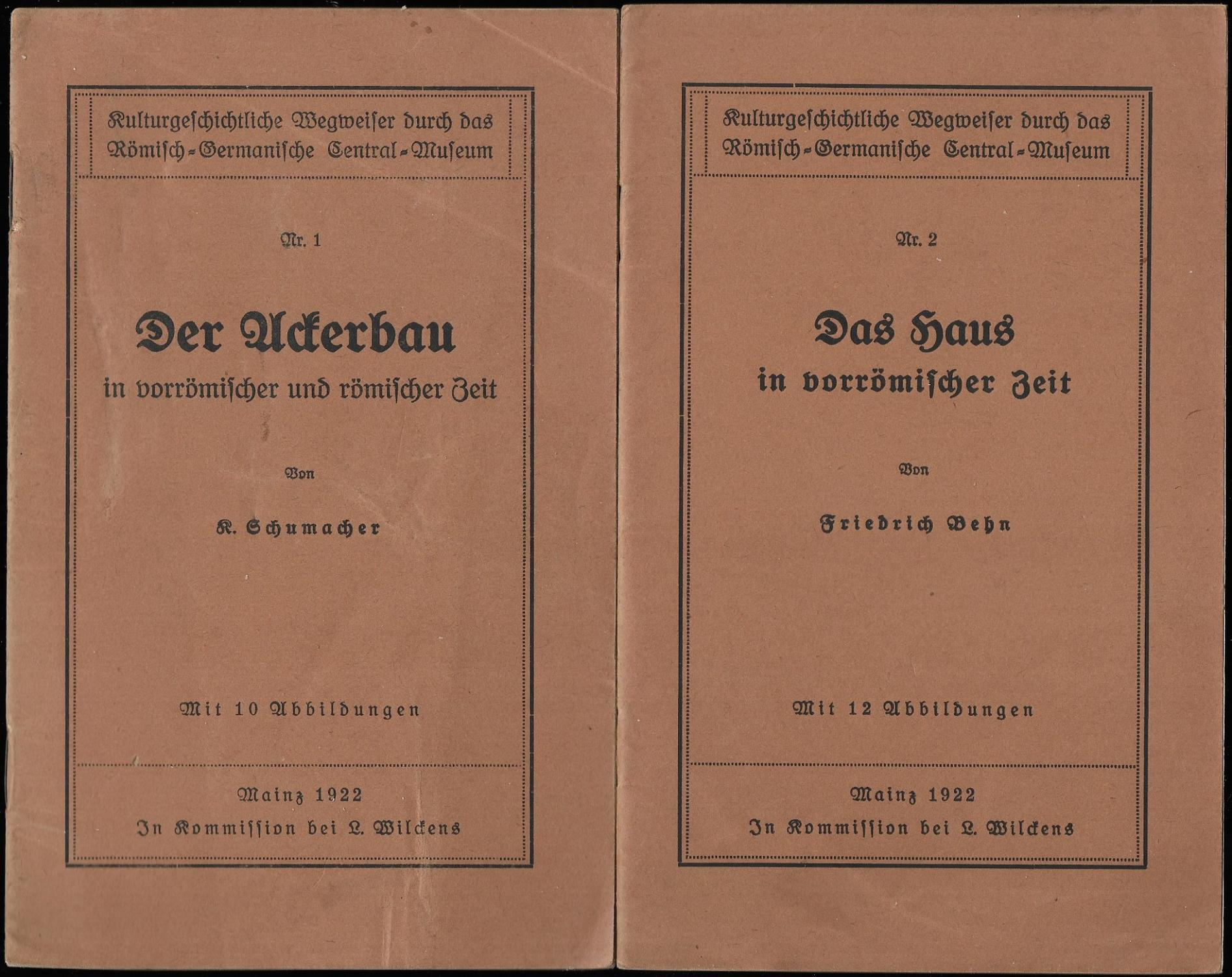 KULTURGESCHICHTLICHE WEGWEISER DURCH DAS RÖMISCH-GERMANISCHE CENTRAL-MUSEUM. [Konvolut: KULTURGESCHICHTLICHE WEGWEISER DURCH