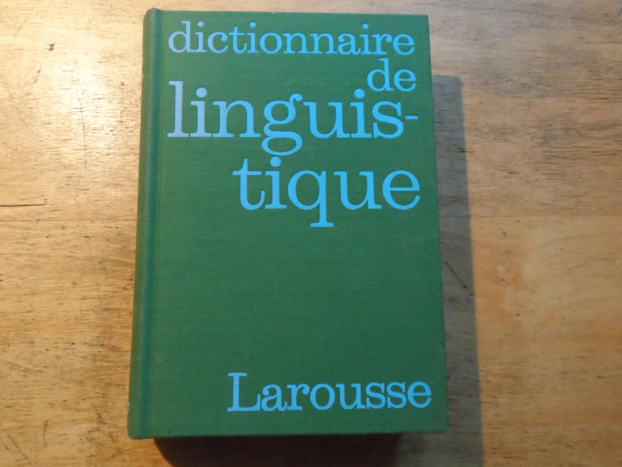 Dictionnaire de linguistique: Dubois,Jean