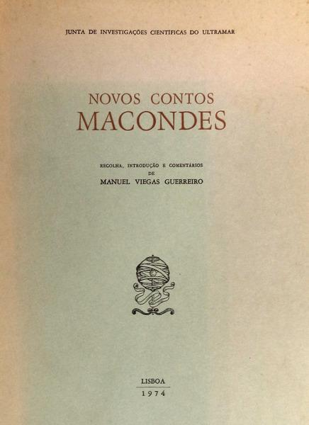 NOVOS CONTOS MACONDES.: VIEGAS GUERREIRO. (Manuel)