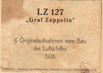 """LZ-127 """"GRAF ZEPPELIN"""" - 5 ORIGINAL-AUFNAHMEN VOM: Luftschiffbau Zeppelin GmbH:"""