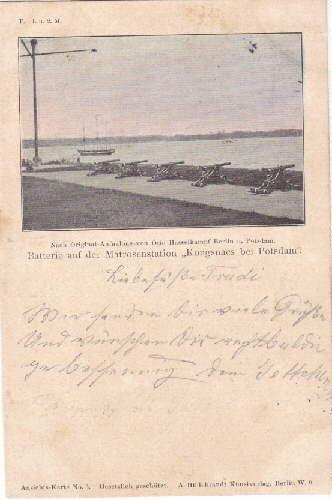 "Batterie auf der Matrosenstation ""Kongsnaes bei Potsdam"".: Potsdam -"