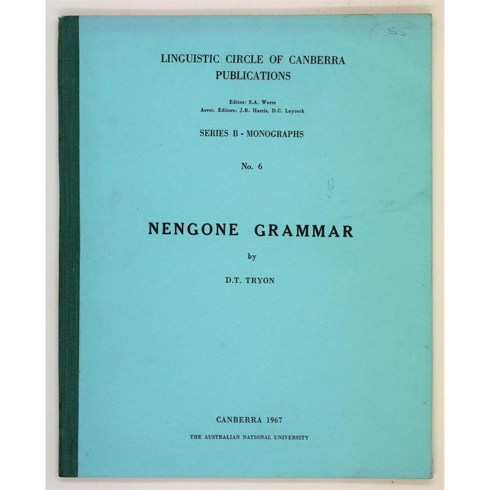 Nengone Grammar.: Tryon, D. T.