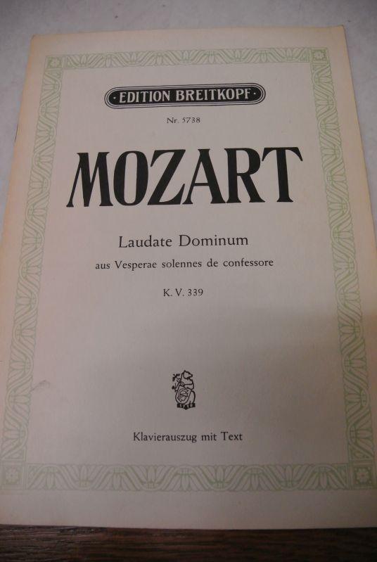 Laudate Dominum, aus Vesperae solennes de confessore.: Mozart, Wolfgang Amadeus
