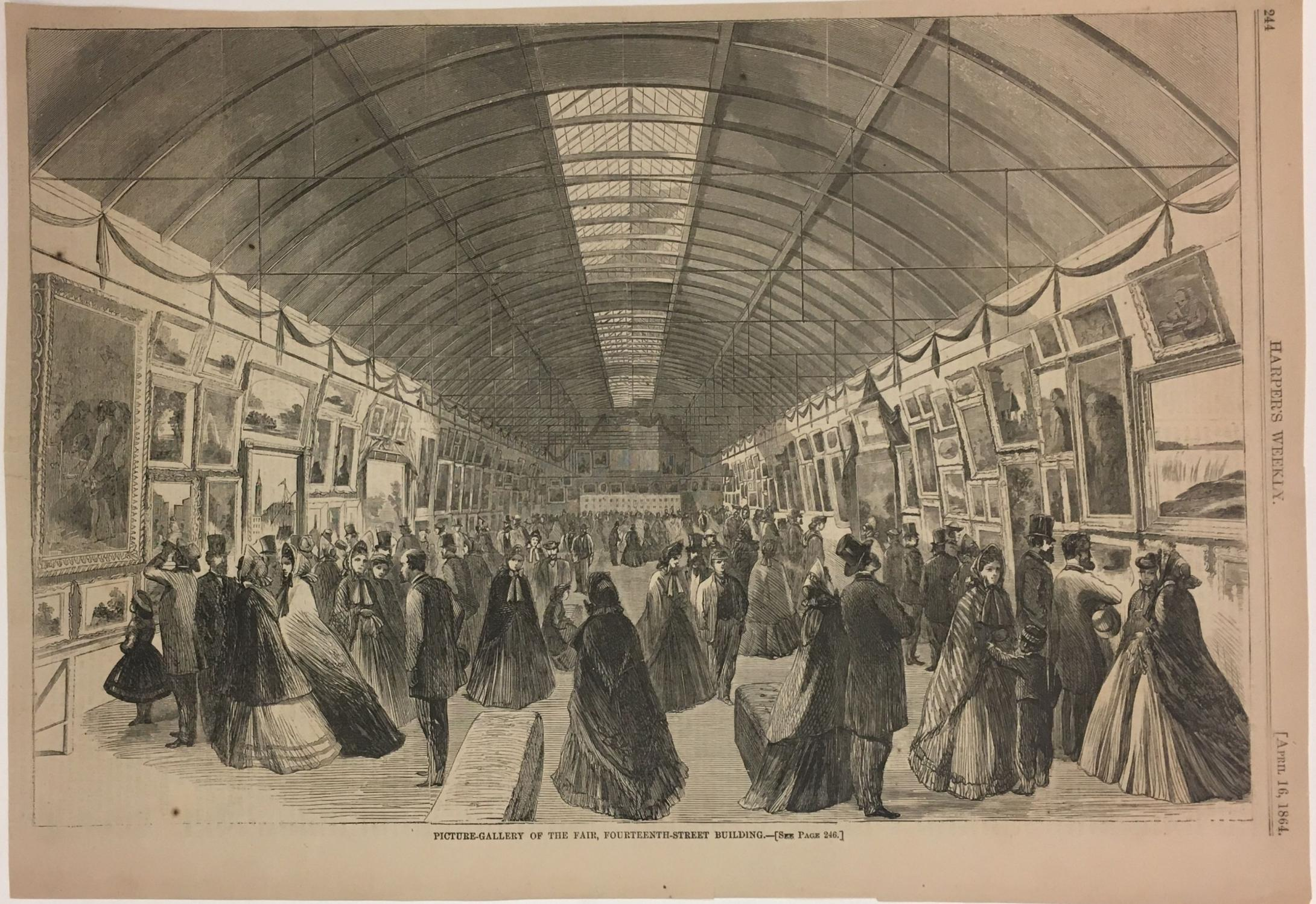 Picture-Gallery of the Fair, Fourteenth-Street Building: HARPER'S WEEKLY