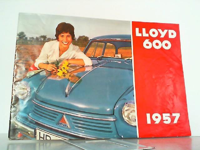 Lloyd 600 von 1957 und 2 beiliegenden: Lloyd, Werbe-Prospekt: