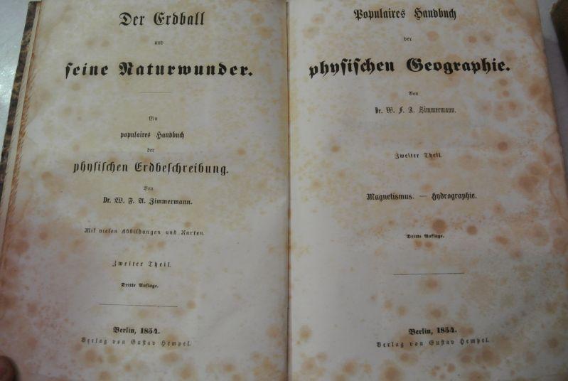 Magnetismus - Hydrographie. (= Der Erdball und: Zimmermann, W. F.