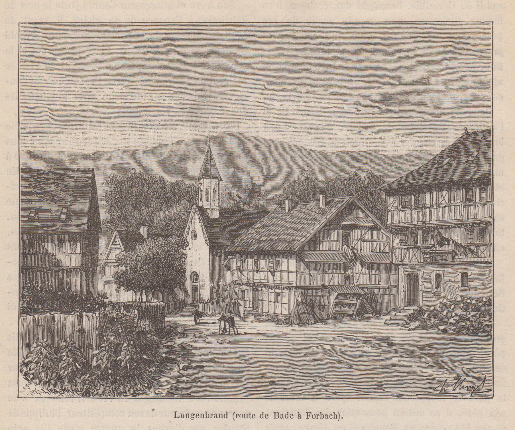 Gesamtans., route de Bade a Forbach.: Forbach/Murgtal: Langenbrand: