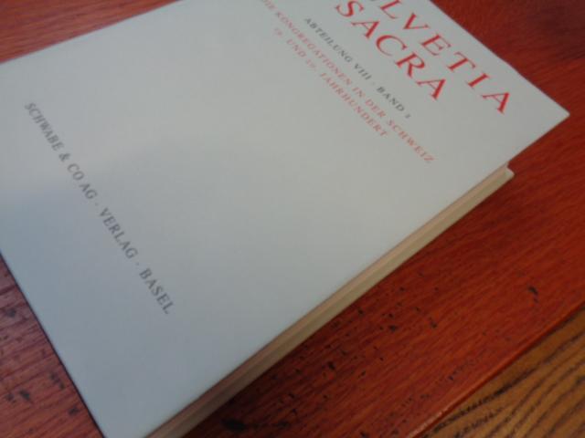 Helvetia Sacra / Die Kongregationen in Der: Le Curatorium de