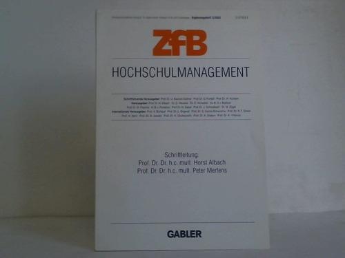 Hochschulmanagement. Ergängungssheft 3/2003: Albach, Horst /