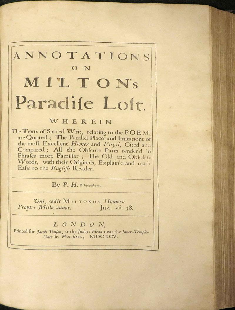 1799 Antique Milton/'s Paradise Lost Frontispiece