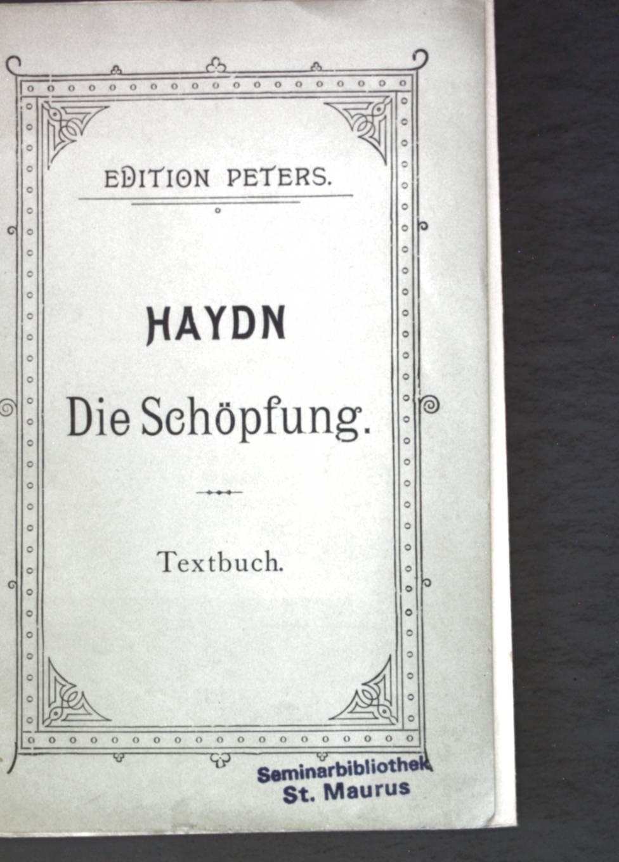 Die Schöpfung; Oratorium.: Haydn, Joseph: