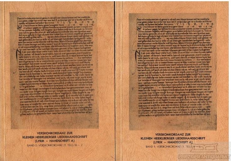 Verskonkordanz zur kleinen Heidelberger Liederhandschrift (Lyrik -: Müller, Ulrich (Hrsg.).