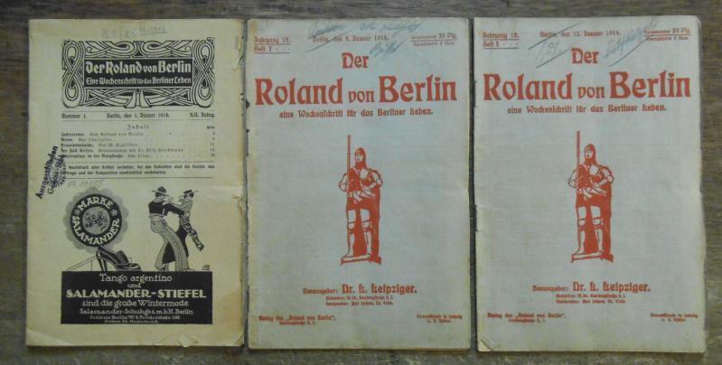 Der Roland von Berlin. 1914, Jahrgang 12,: Roland von Berlin.