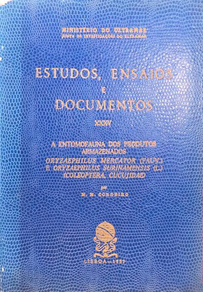 A ENTOMOFAUNA DOS PRODUTOS ARMAZENADOS.: CORDEIRO. (Manuel Marcos)