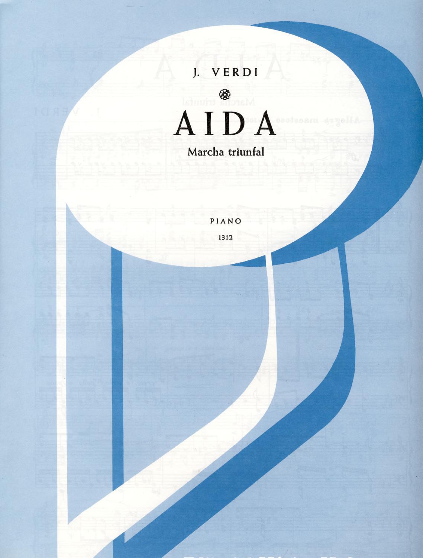 Verdi Marcha Triunfal De Aida Para Piano De Verdi 2005 Partitura Mega Music