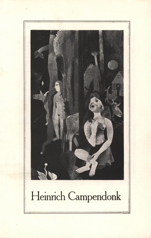 Heinrich Campendonk. Katalog zu seiner ersten Einzelausstellung: Société Anonyme New