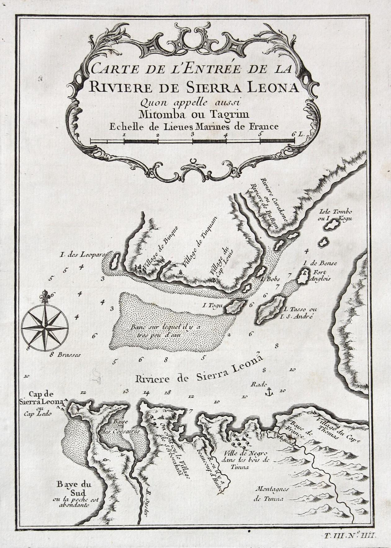 Carte de l'Entree de la Rieviere de: Bellin, Jacques-Nicolas: