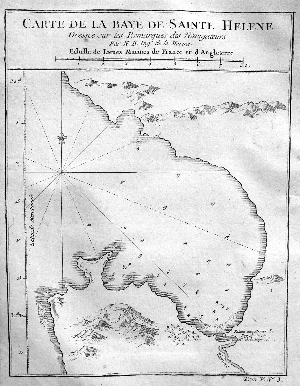 "Carte de la Baye de Sainte Helene"": Bellin, Jacques-Nicolas:"